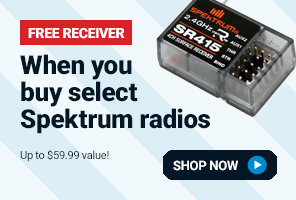 Free receiver with select Spektrum transmitters