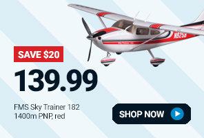 FMM007PAR FMS Sky Trainer 182 PNP, 1400mm: Red