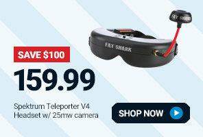 SPMVS2500 Spektrum Teleporter V4 Headset with 25mW Micro Camera