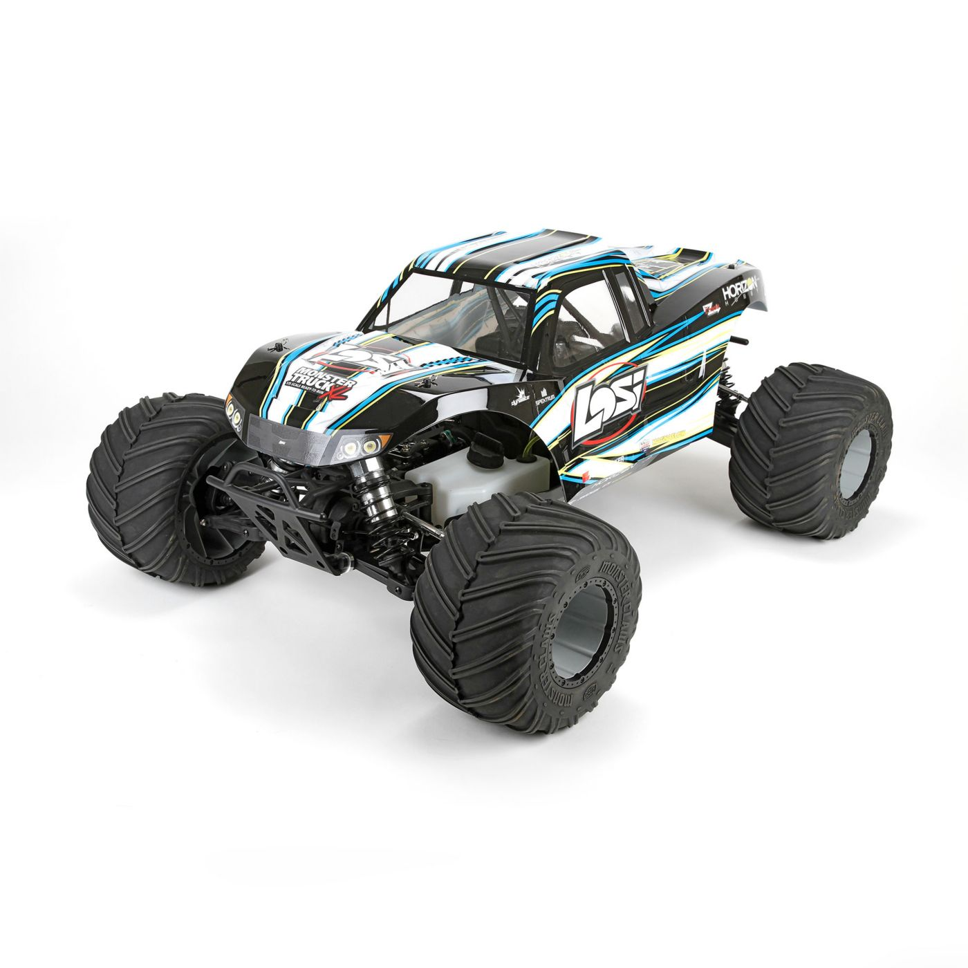 c9aade3d80 Details about Losi 1 5 Monster Truck XL 4 Wheel Drive Gas Ready to Run with  AVC Black