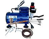 Paasche Airbrush Company - Airbrush & Compressor Package: TG3F, D500SR, & AC7