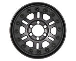 Pro-line Racing - Pro-Forge FaultLine 1.9 Gun Metal Aluminum Black Bead-Loc Front/Rear Wheels (2)