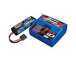 Traxxas - 2S Single Battery/Charger Combo: (1) 7.4V 5800mAh LiPo Battery, (1) EZ-Peak Plus ID Charger