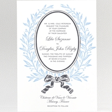 French Bow: Wedding Invitation