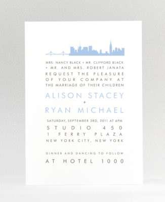 New York City Skyline: Wedding Invitation