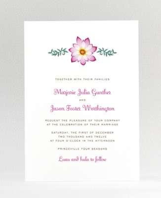 Tropical Paradise: Wedding Invitation