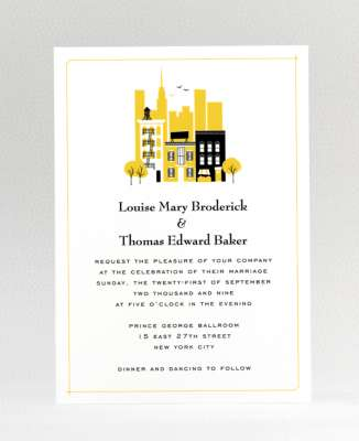 Visit New York: Wedding Invitation