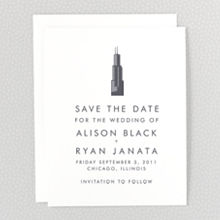 Chicago Skyline: Save the Date