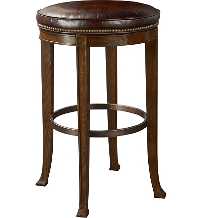Newbury Swivel Backless Bar Stool From The 1911 Collection