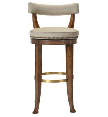 Newbury Swivel Curved Back Bar Stool From The 1911