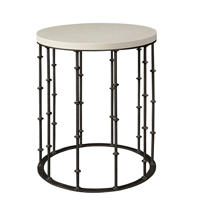 Astor Side Table With Stone Top From