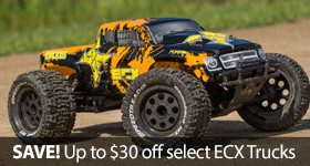 Save up to 30-dollars off select ECX vehicles