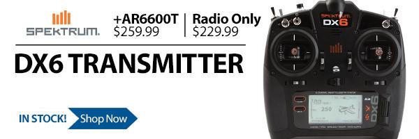 Spektrum DX6 6-channel DSMX RC Radio Transmitter