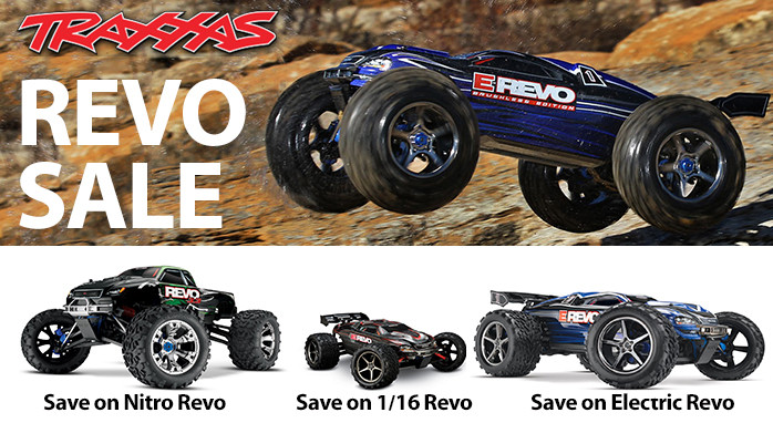 Save on Select Traxxas Revo RTR Nitro Electric 1/16 4WD Monster Truck
