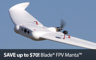 Save up to $70 on the Blade FPV Manta Flying Wing RC Airplane