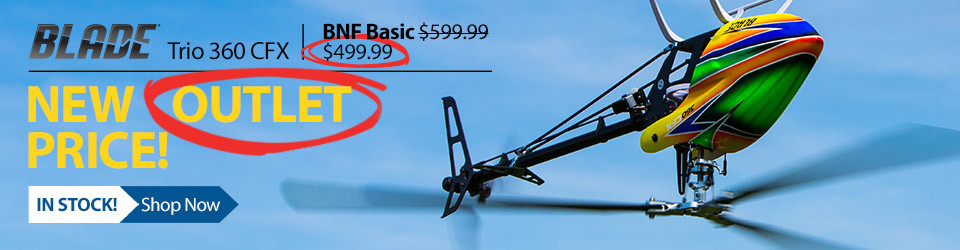 New Low Price! Blade Trio 360 CFX 3-bladed Flybarless Helicopter