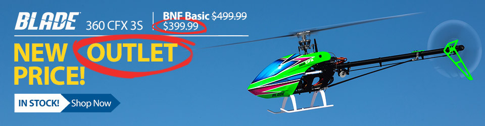 New Low Price! Blade 360 CFX 3S BNF Basic Helicopter