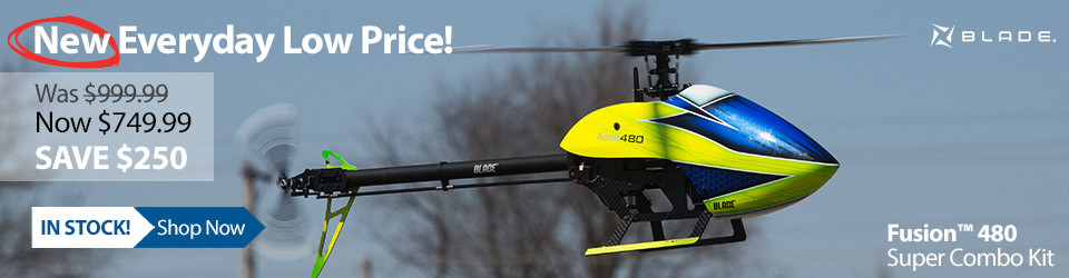 New Everyday Low Price! Blade Fusion 480 Super Combo Kit 3D Helicopter