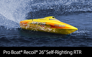 Recoil 26-inch Self-Righting Brushless Deep-V RTR RC Boat