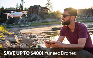 Save up to $300 off Yuneec Camera Drones