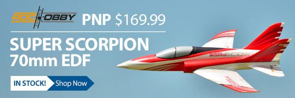 RocHobby Super Scorpion PNP, 70mm ducted fan jet