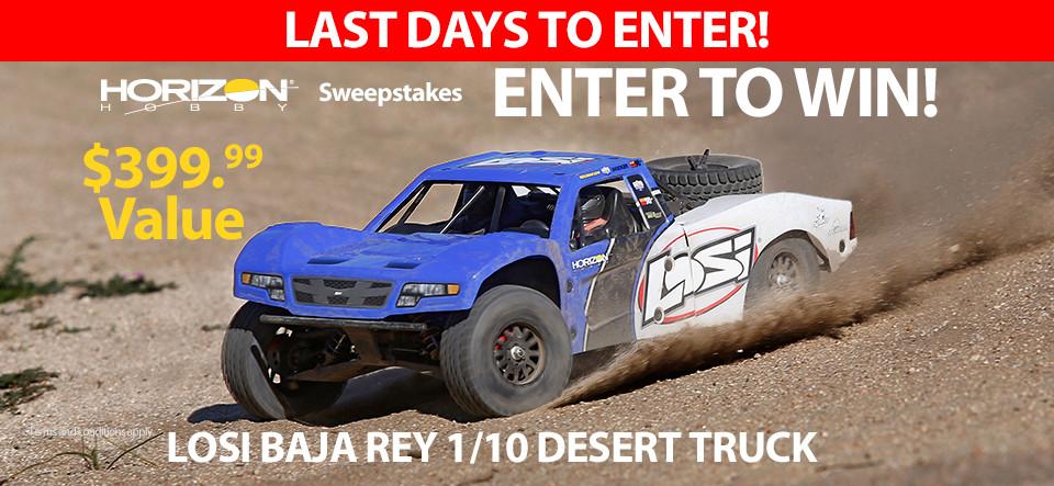 Horizon Hobby RC Sweepstakes! Win a Losi Baja Rey Desert Truck!