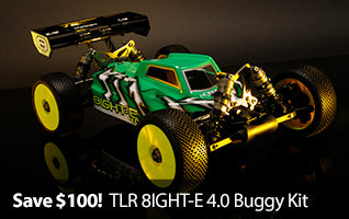 Save $100 on TLR 1/8 8IGHT-E 4.0 4WD Electric Buggy Kit RC Car