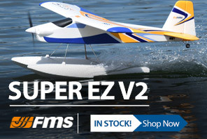 FMS Super EZ V2 1220mm Airplane with Floats