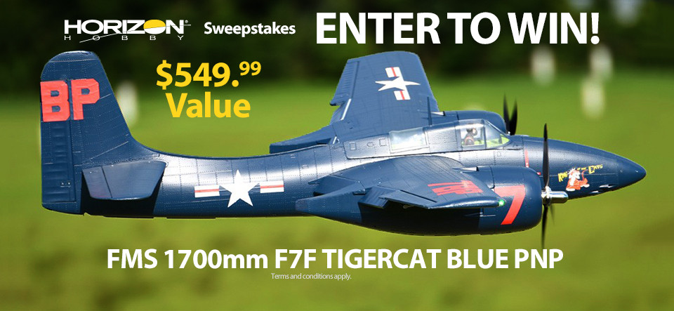 Horizon Hobby RC Sweepstakes! Win an FMS 1700mm F7F Tigercat PNP Blue!