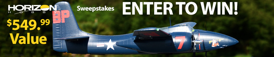 Enter for your chance to win a FMS F7F Tigercat, 1700mm RC Airplane