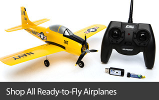 RTF Ready To Fly Scale Micro RC Warbird Airplane with SAFE Technology