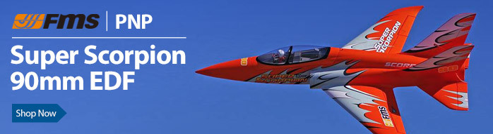 FMS Super Scorpion PNP 90mm EDF Sport Jet