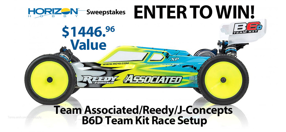 Horizon Hobby RC Sweepstakes! Chance to Win a Team Associated B6D Race Package!