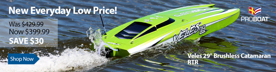 New Everyday Low Price Pro Boat Veles 29-inch Catamaran