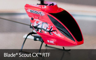 Blade Scout CX RTF 3-channel Coaxial Beginner Teach-Yourself-to-Fly RC Helicopter