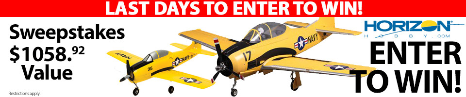 Horizon Hobby RC Sweepstakes! Enter to win planes from FMS and HobbyZone!