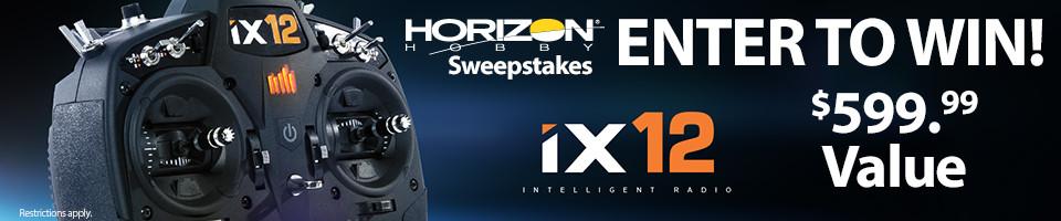 Horizon Hobby RC Sweepstakes! Enter to win a Spektrum IX12 Intelligent Radio