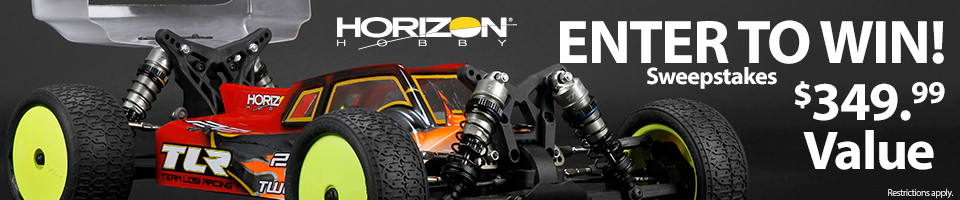 Horizon Hobby RC Sweepstakes! Enter to win a Team Losi Racing 22-4 2.0 4WD Off Road Buggy Kit