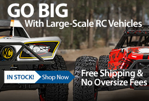 Go BIG with Large Scale cars, trucks and accessories