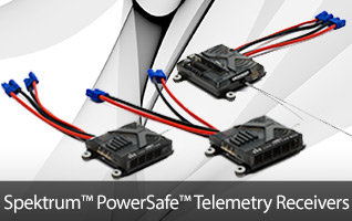 Spektrum PowerSafe DSM2/DSMX Aircraft Receivers with Integrated Telemetry
