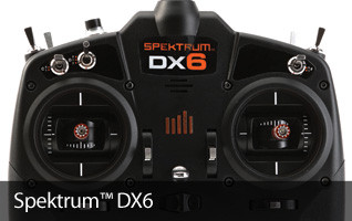SPM DX6 Gen 3 Sport Receiver AS3X DSMX Aircraft Transmitter Multirotor Drone