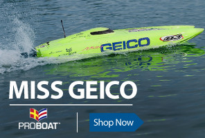 The 17-inch Miss GEICO catamaran offers a ton of fun and is loaded with features typically found in larger, higher-priced radio control boats