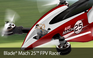Blade Mach 25 FPV Race Quadcopter Drone - Also available with FPV bundles