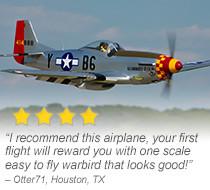 Hangar 9 P-51D Mustang 60cc 89-inch ARF Giant Scale Warbird
