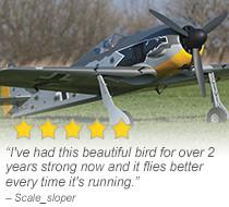 Top Flite Giant Focke-Wulf Fw 190 50-55cc 85-inch Gas ARF Giant Scale Warbird