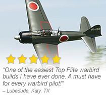 Top Flite Giant Zero A6M 50-60cc 86-inch Gas ARF Giant Scale Warbird
