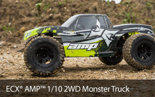 Beginners and experienced drivers love the durable and versitle ECX AMP MT RTR or Kit