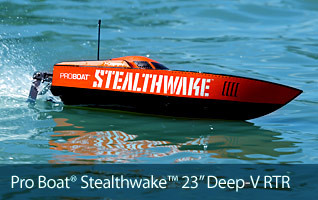 Pro Boat Stealthwake 23-inch Deep-V Brushed RTR