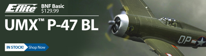 E-flite UMX P-47 BNF Basic Ultra Micro RC Warbird Airplane