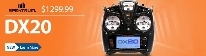 SPM20000 Spektrum DX20 DSMX Air Transmitter